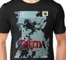 Legend of Zelda Ocarina of Time Japanese Box Art Unisex T-Shirt