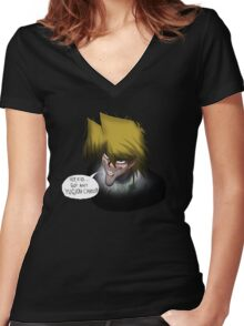 Creepy Joey Women's Fitted V-Neck T-Shirt