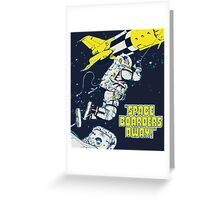 Space Boarders Greeting Card