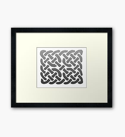 CROSS KNOTTED Framed Print