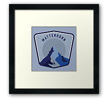 Matterhorn Patch Framed Print