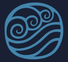 Waterbending Symbol (light) by hopperograss