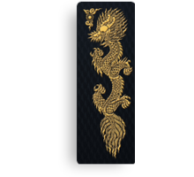 Gold Dragon Mustache shenlong Canvas Print