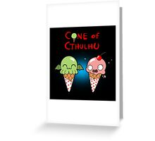 The Cone of Cthulhu Greeting Card