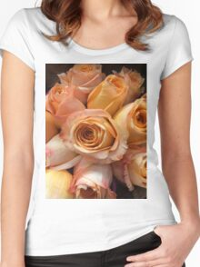 Peachy Roses Women's Fitted Scoop T-Shirt