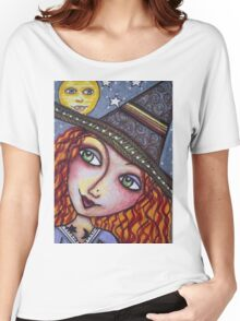 FULL MOON WISHES - Halloween, Witch Women's Relaxed Fit T-Shirt