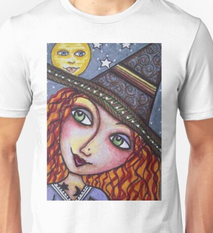 FULL MOON WISHES - Halloween, Witch Unisex T-Shirt