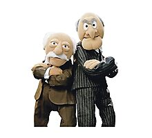 Statler and Waldorf Photographic Print