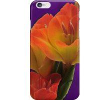 ORANGE GLADIOLA iPhone Case/Skin