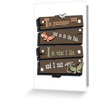 Br'er Rabbit's Wise Words Greeting Card