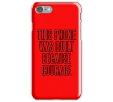 Courage iPhone Case (Red & Black) iPhone Case/Skin