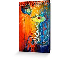 The Poppy Journals...Blue and Red Greeting Card