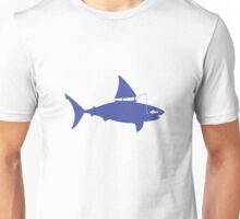 A fin day for fishing: BLUE Unisex T-Shirt