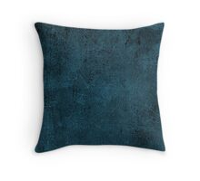 Grunge Leather Cow Hide Look In Peacock Blue Throw Pillow