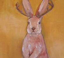 Jackalope Handpainted   by mcrespo1