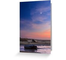 Florence Beach Twilight Moon Greeting Card