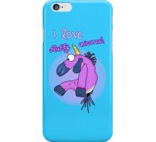 i love fluffy unicorns iPhone Case/Skin