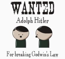 Wanted: Hitler. For breaking Godwin's Law. Kids Clothes
