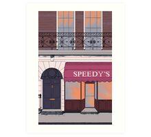 BBC Sherlock- 221B Baker Street Art Print