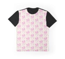 Celestial Rabbit Pink & Beige Graphic T-Shirt