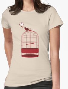 singing bird Womens Fitted T-Shirt