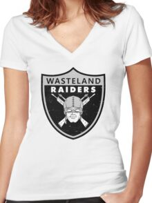 Wasteland Raiders Women's Fitted V-Neck T-Shirt