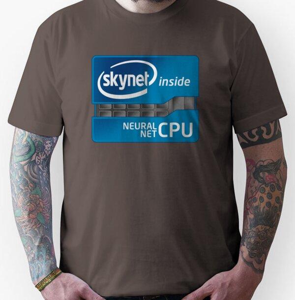 Skynet Inside Intel CPU Parody T-Shirt