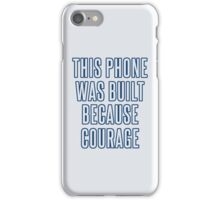 Courage iPhone Case (Blues) iPhone Case/Skin