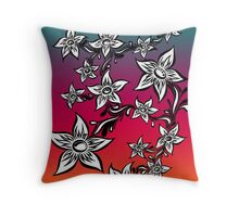Petalpoint rainbow Throw Pillow