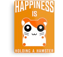 happiness is holding a hamster Metal Print
