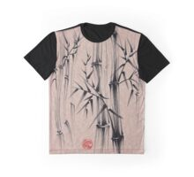 Forest of Dreams - Sumie ink brush bamboo forest painting Graphic T-Shirt