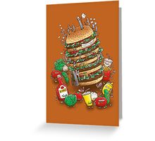 Uber BurgerBot Greeting Card