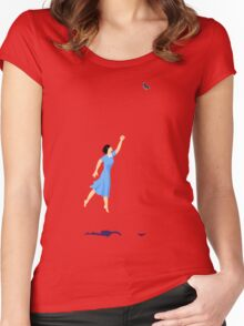 Butterfly Girl Without String Women's Fitted Scoop T-Shirt