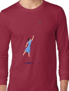 Butterfly Girl Without String Long Sleeve T-Shirt