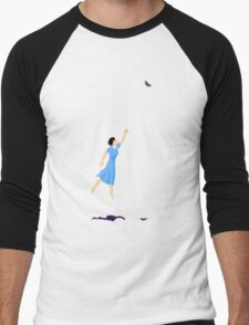 Butterfly Girl Without String Men's Baseball ¾ T-Shirt