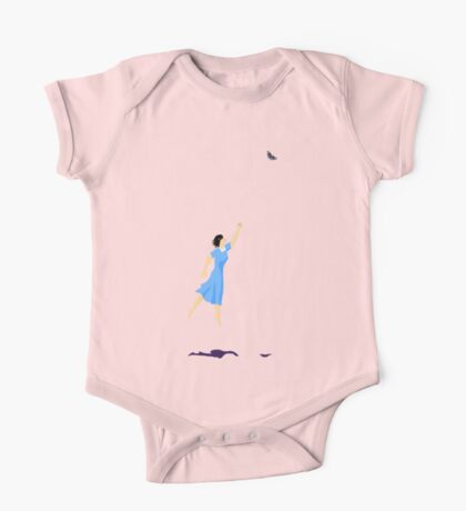 Butterfly Girl Without String One Piece - Short Sleeve