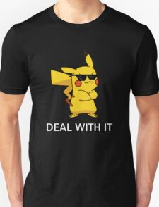 """Pikachu-""""DEAL WITH IT"""" T-Shirt"""