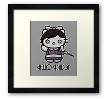 'ello Daddy Framed Print