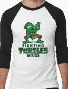 Fighting Turtles Men's Baseball ¾ T-Shirt