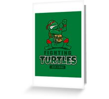 Fighting Turtles Greeting Card