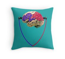 Music to the brain Throw Pillow