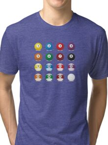 billard balls Tri-blend T-Shirt