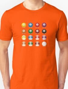 billard balls Unisex T-Shirt