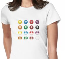 billard balls Womens Fitted T-Shirt