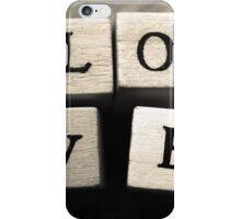 LOVE Wooden Letter Blocks Art  iPhone Case/Skin