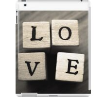 LOVE Wooden Letter Blocks Art  iPad Case/Skin
