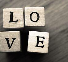 LOVE Wooden Letter Blocks Art  by ARTificiaLondon