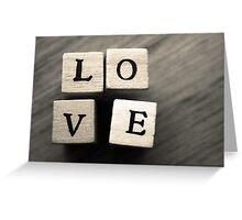 LOVE Wooden Letter Blocks Art  Greeting Card
