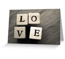 LOVE Wooden Letter Blocks Art  Greeting Card