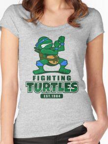Fighting Turtles - Leonardo Women's Fitted Scoop T-Shirt